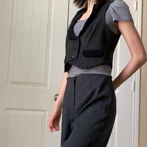 Ann Taylor Loft Striped Crop Vest